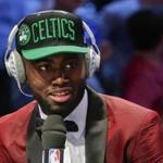 Jaylen Brown (pictured) said all along that he bonded with Brad Stevens and Danny Ainge.
